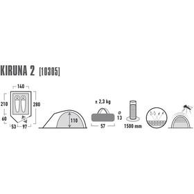 High Peak Kiruna 2 - Tente - bleu